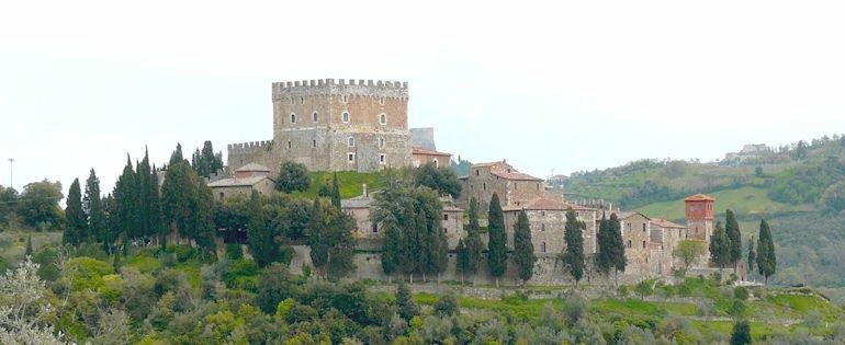 Castello di Ripa d'Orcia in tha Val d'Orcia of Tuscany